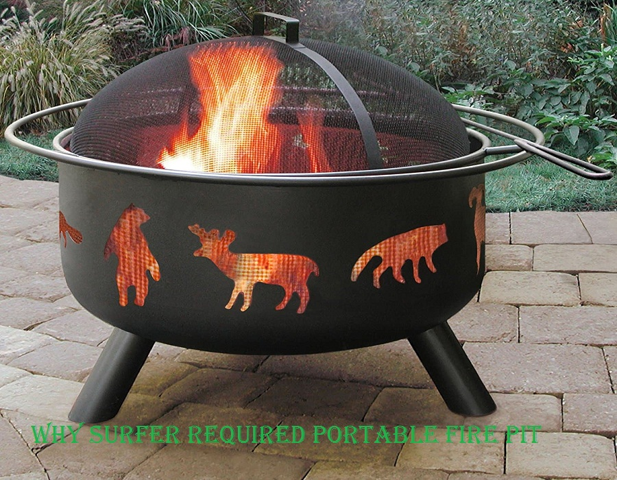 why surfer required portable fire pit