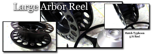 Large arbor fly reels
