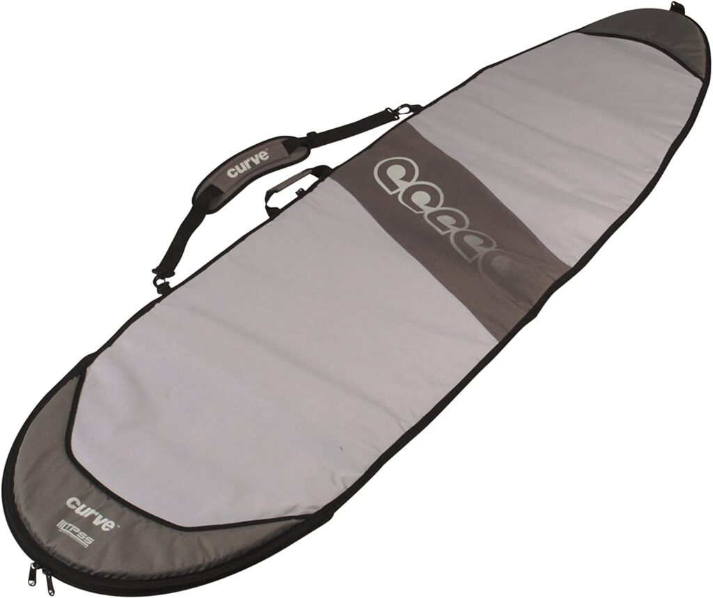 Curve Surfboard Bag travel FISH Single with 20mm Foam